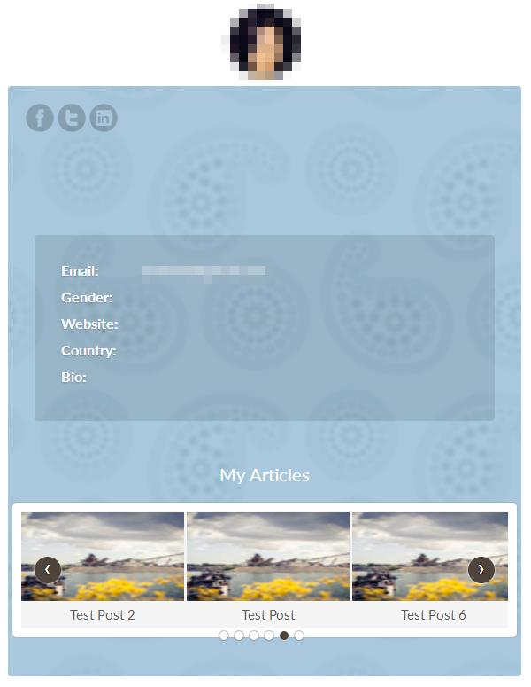 ProfilePress - My Profile Page