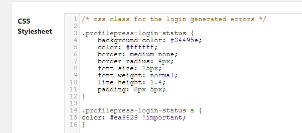 ProfilePress - New Login Form CSS Stylesheet
