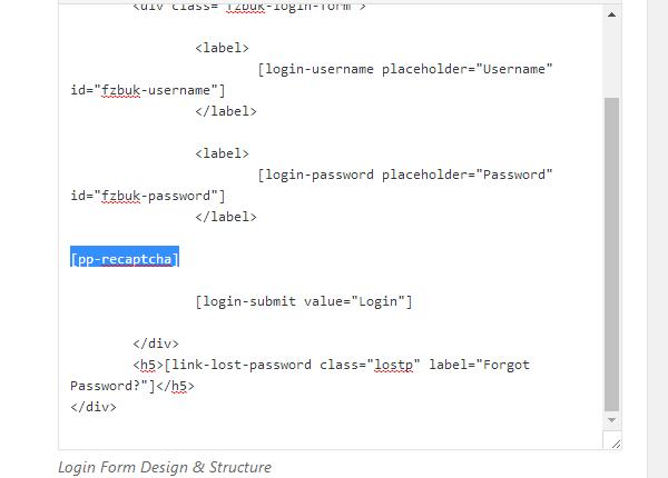 ProfilePress - reCAPTCHA Shortcode