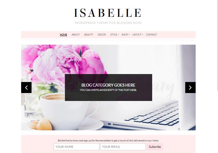 isabelle-feminine-wordpress-theme