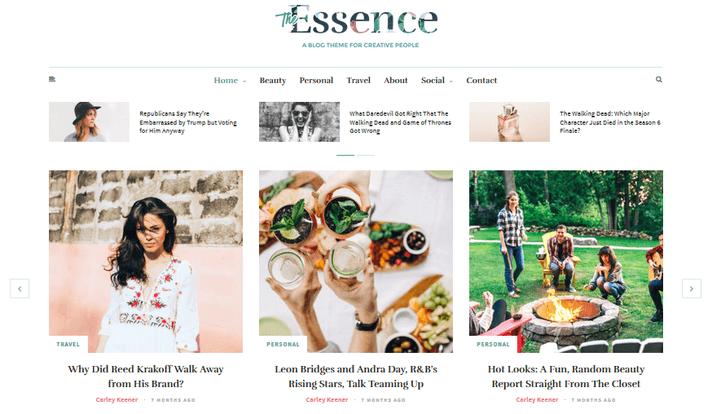 the-essence-blogging-theme