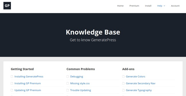 generatepress-knowledge-base