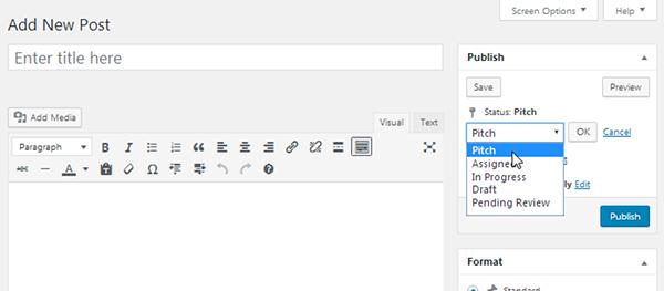 Edit Flow - Assign Status