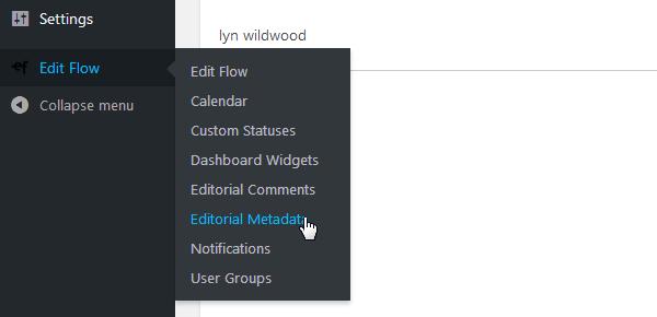 Edit Flow - Editorial Metadata