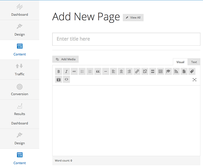 Adding a new page