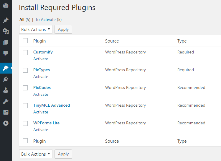 PILE Review Install Plugins