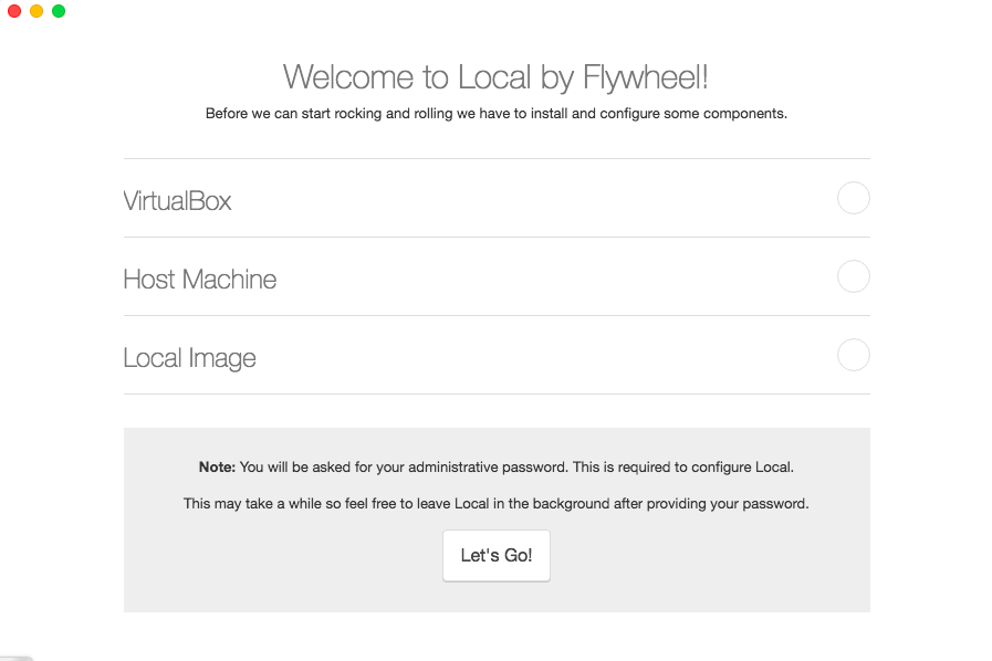 local by flywheel setup