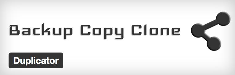 WordPress duplicator plugin