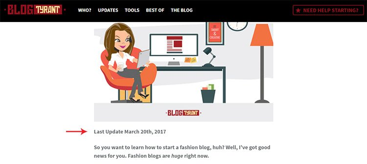 blogtyrant post modified date