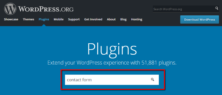 the wordpress.org plugin directory