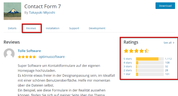plugin rating