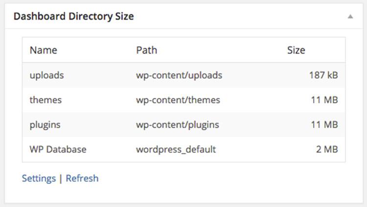 dashboard directory file