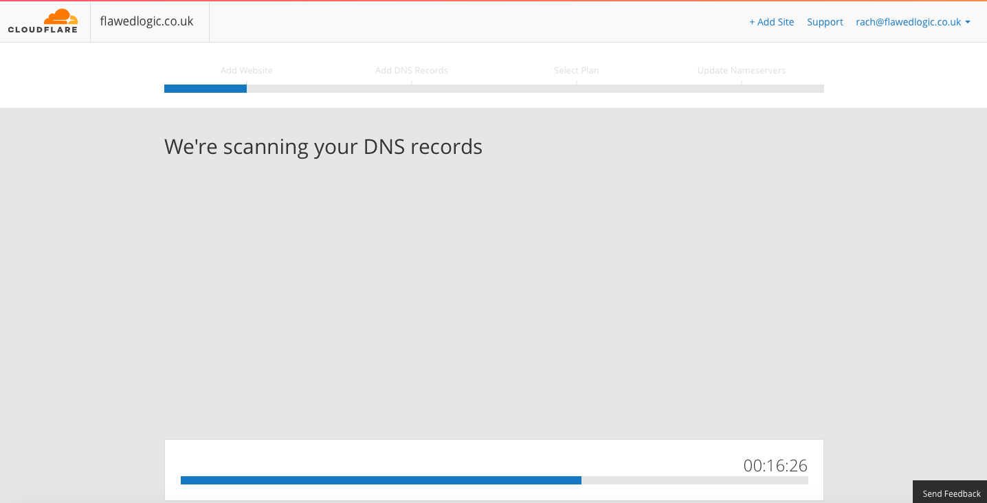 cloudflare scanning dns