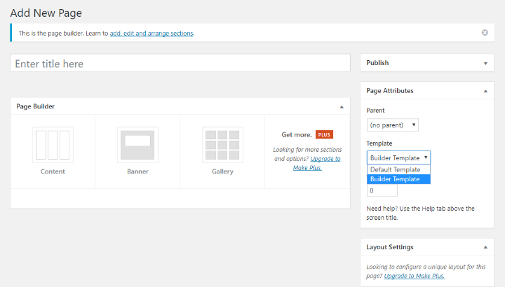 a look at the make page builder