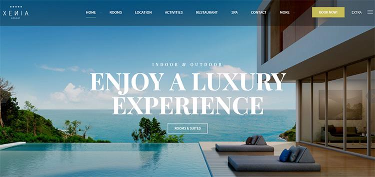xenis resort wordpress theme