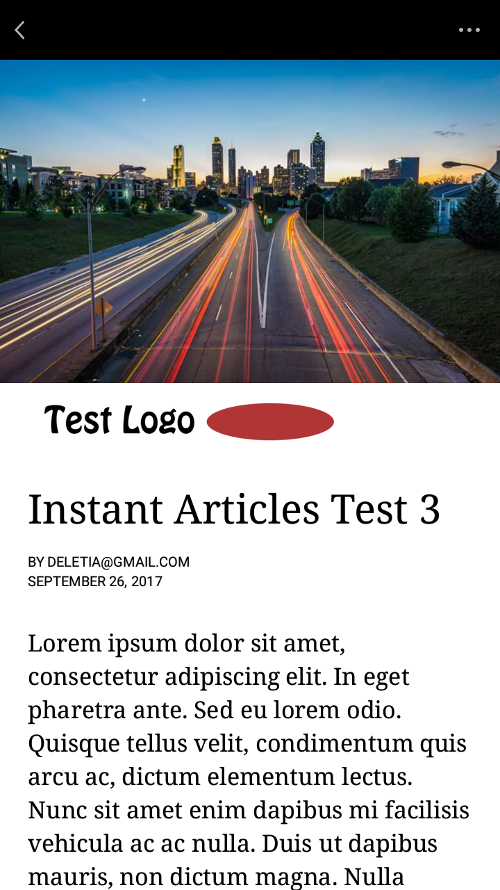 instant article preview