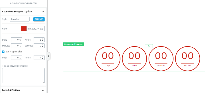thrive architect countdown timer