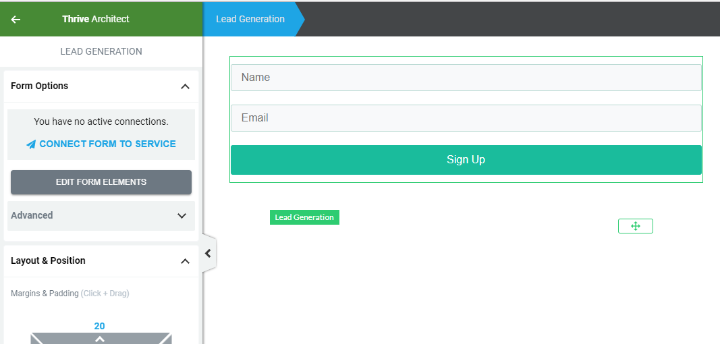 thrive architect opt-in form