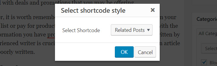 Insert Shortcode 2