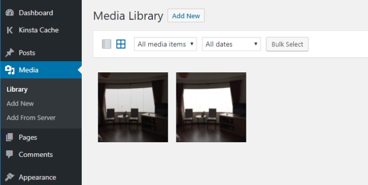 files in media library