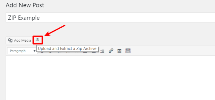 upload zip file to wordpress media library