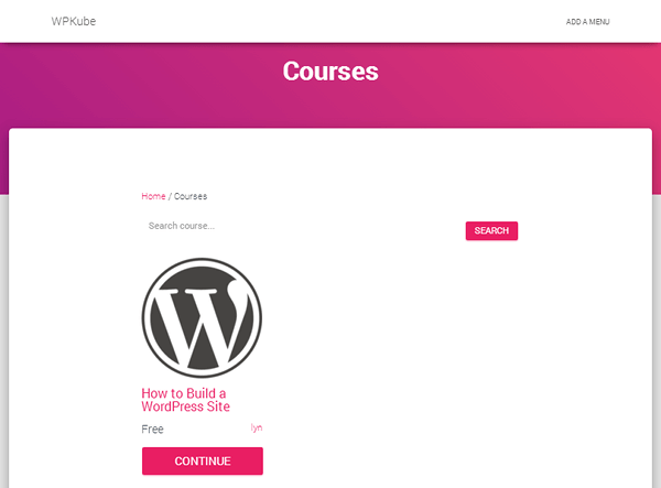 LearnPress - Courses Page
