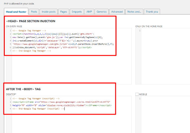 how to add google tag manager to wordpress - where to put code