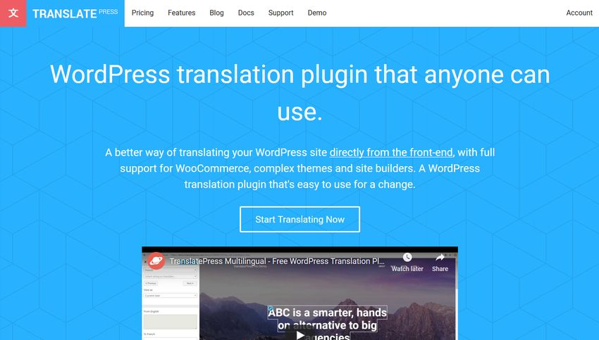 TranslatePress Home Page