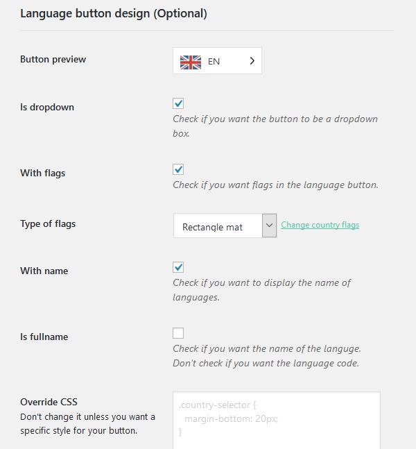 language button design