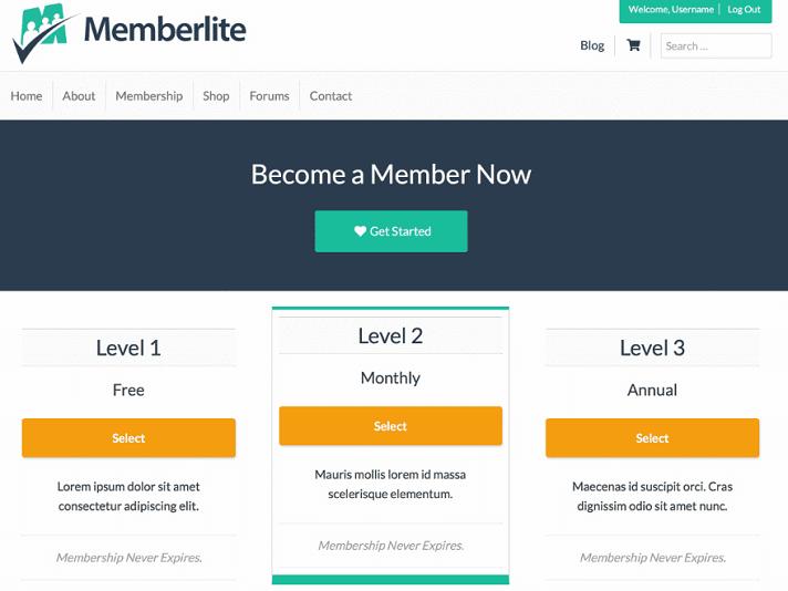 memberlite theme