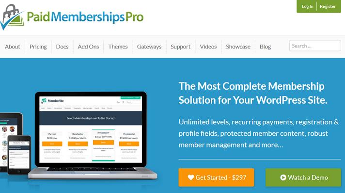 paid memberships pro plugin