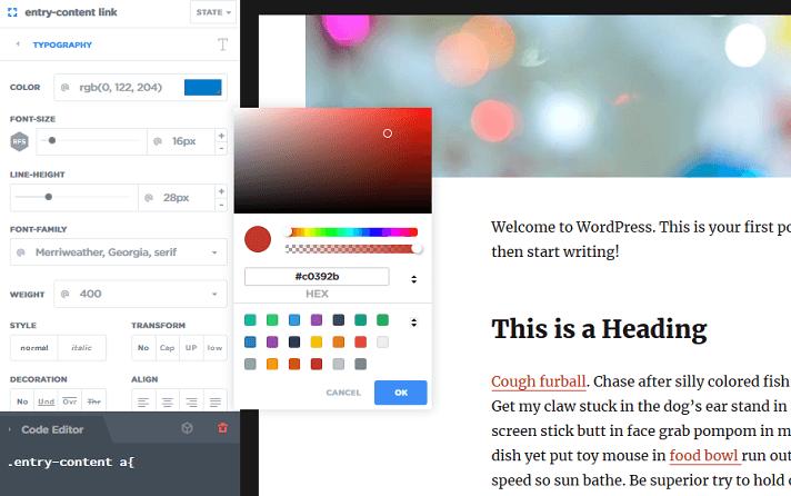 global hyperlink color change