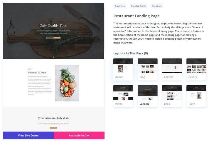 divi theme layout packs templates