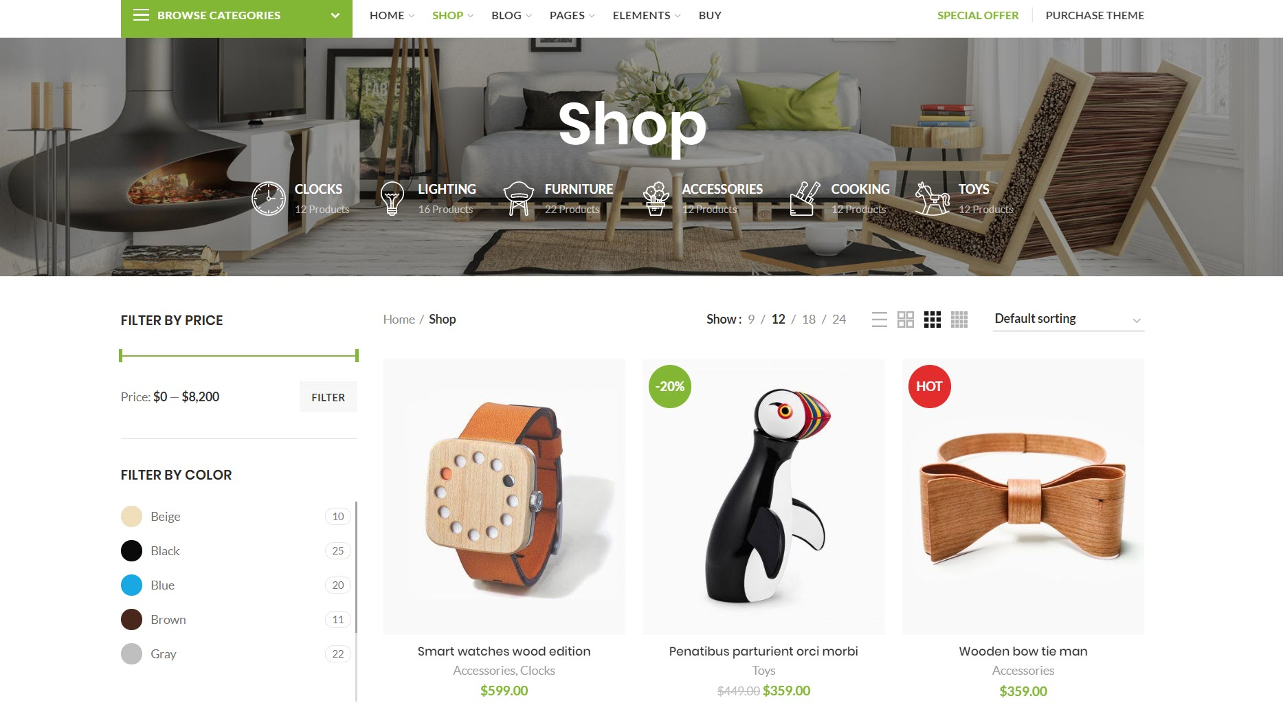 WooCommerce WordPress themes - WoodMart