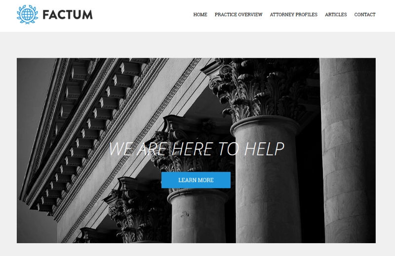 factum lawyer theme