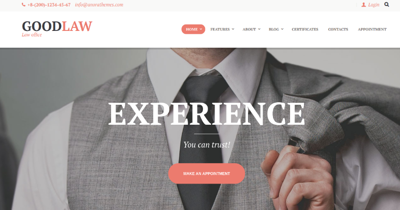 goodlaw wordpress theme