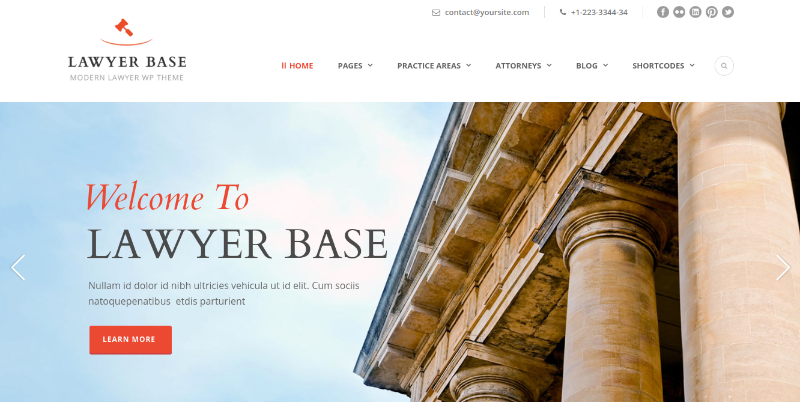 lawyer base wordpress theme