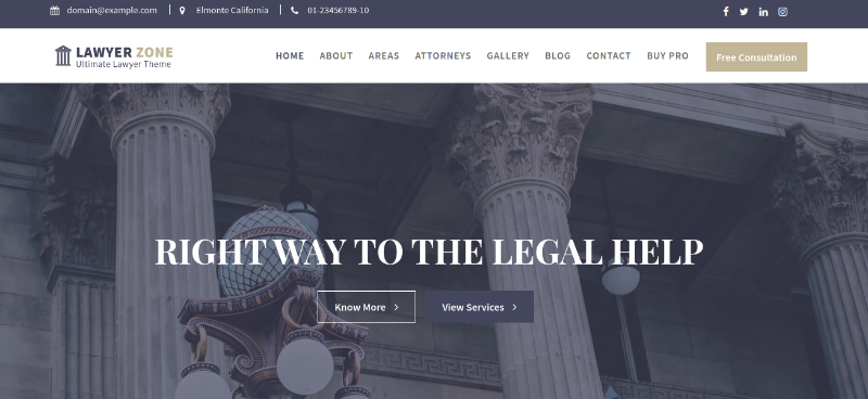 lawyer zone theme