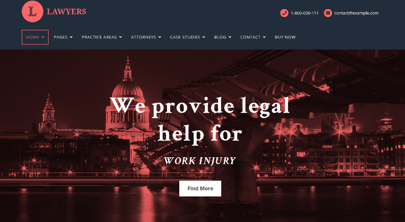 lawyers wordpress theme