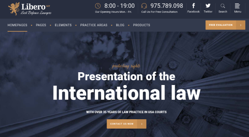 libero lawyer theme