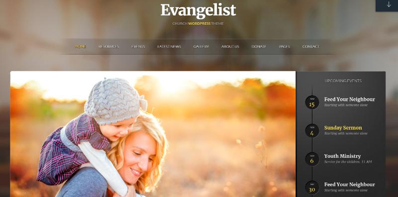 evangelist theme
