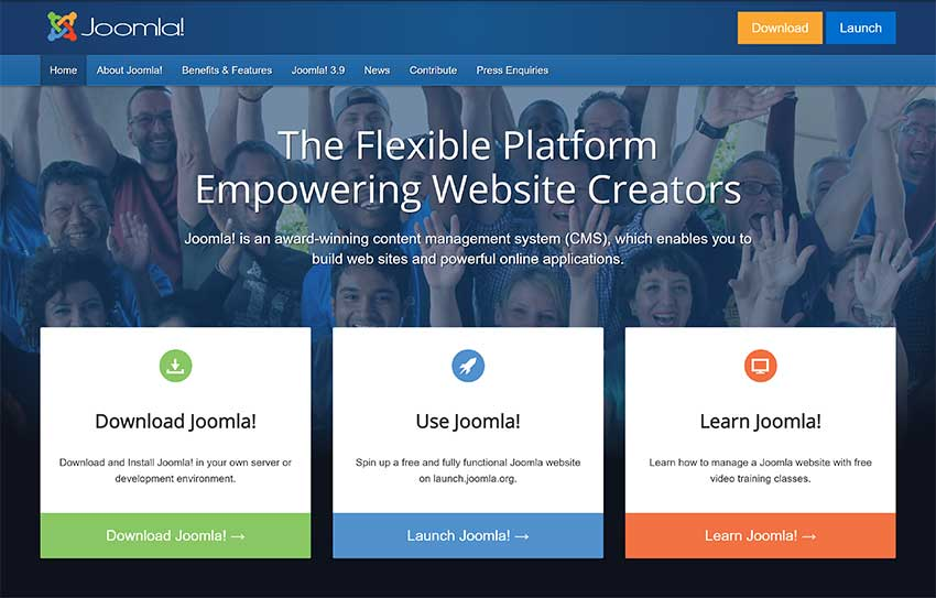 Joomla Home Page