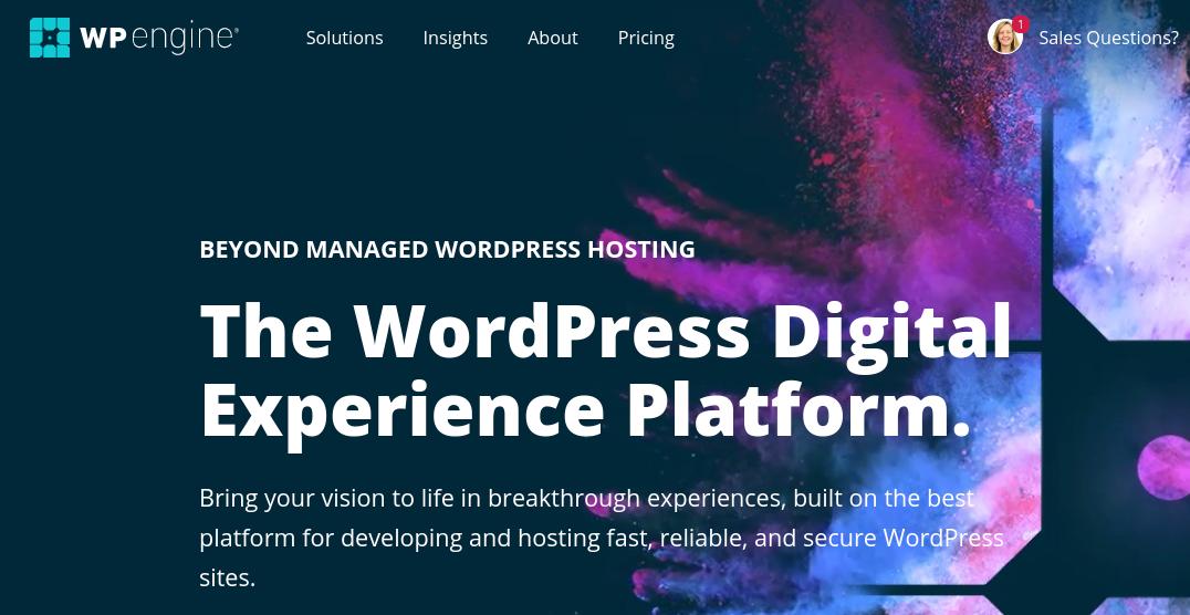 The WP Engine website.