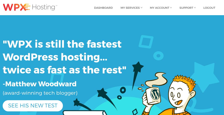 The WPX Hosting website.