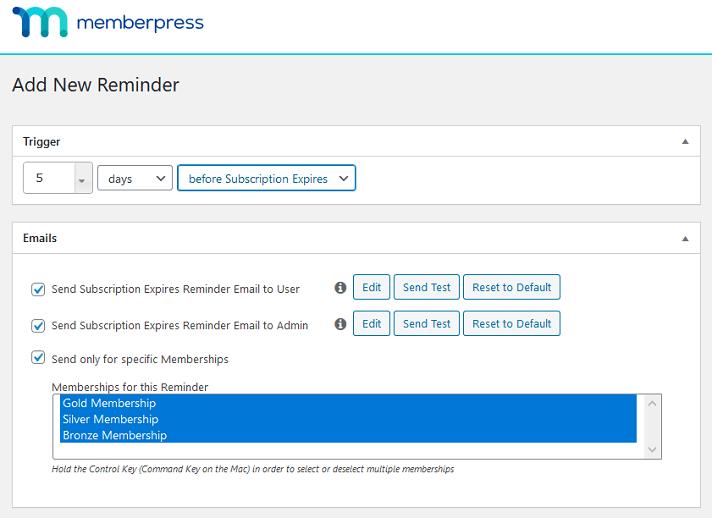 memberpress reminders