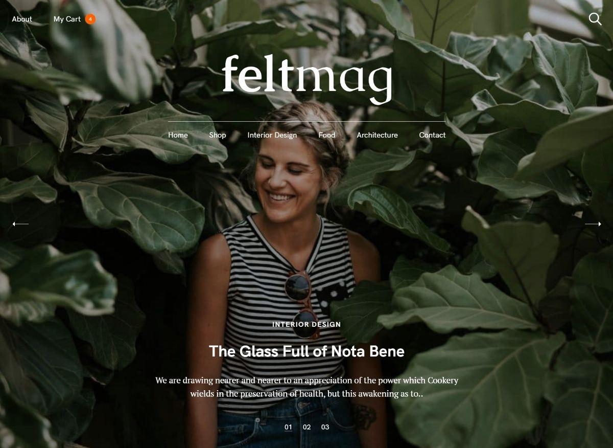 Felt Mag theme from Pixelgrade