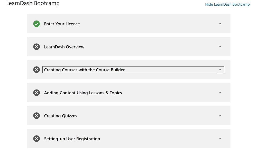 LearnDash vs LifterLMS: LearnDash bootcamp