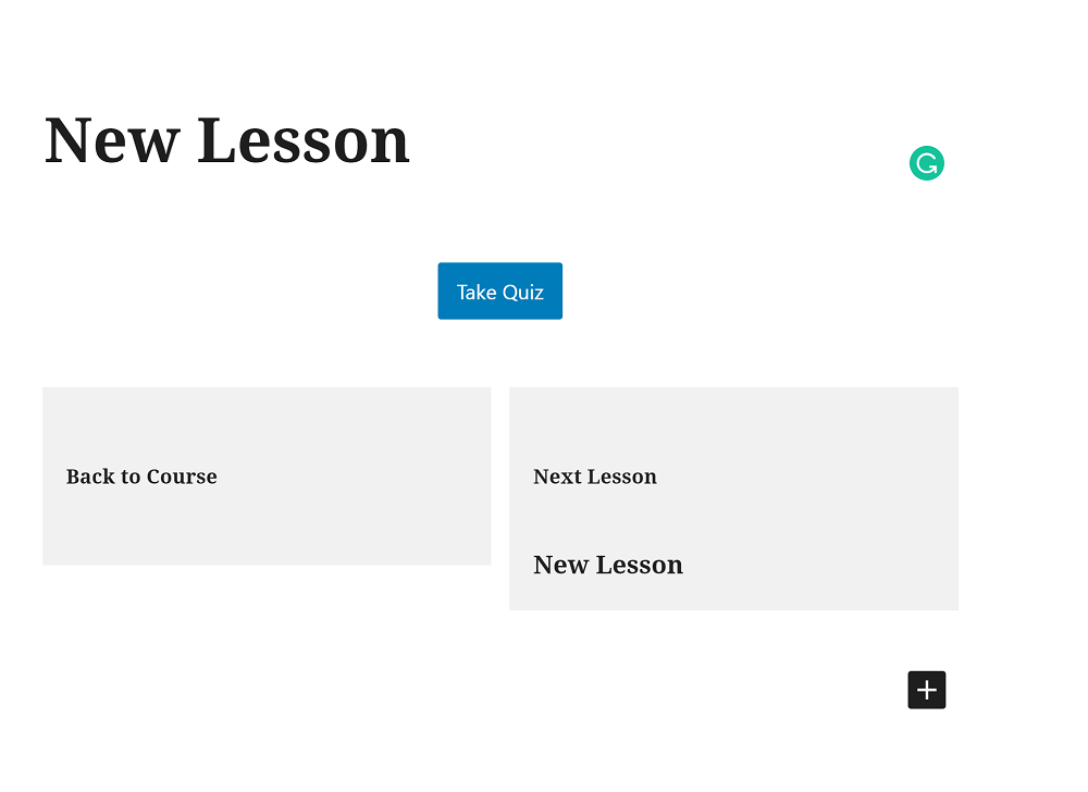 LifterLMS New Lesson