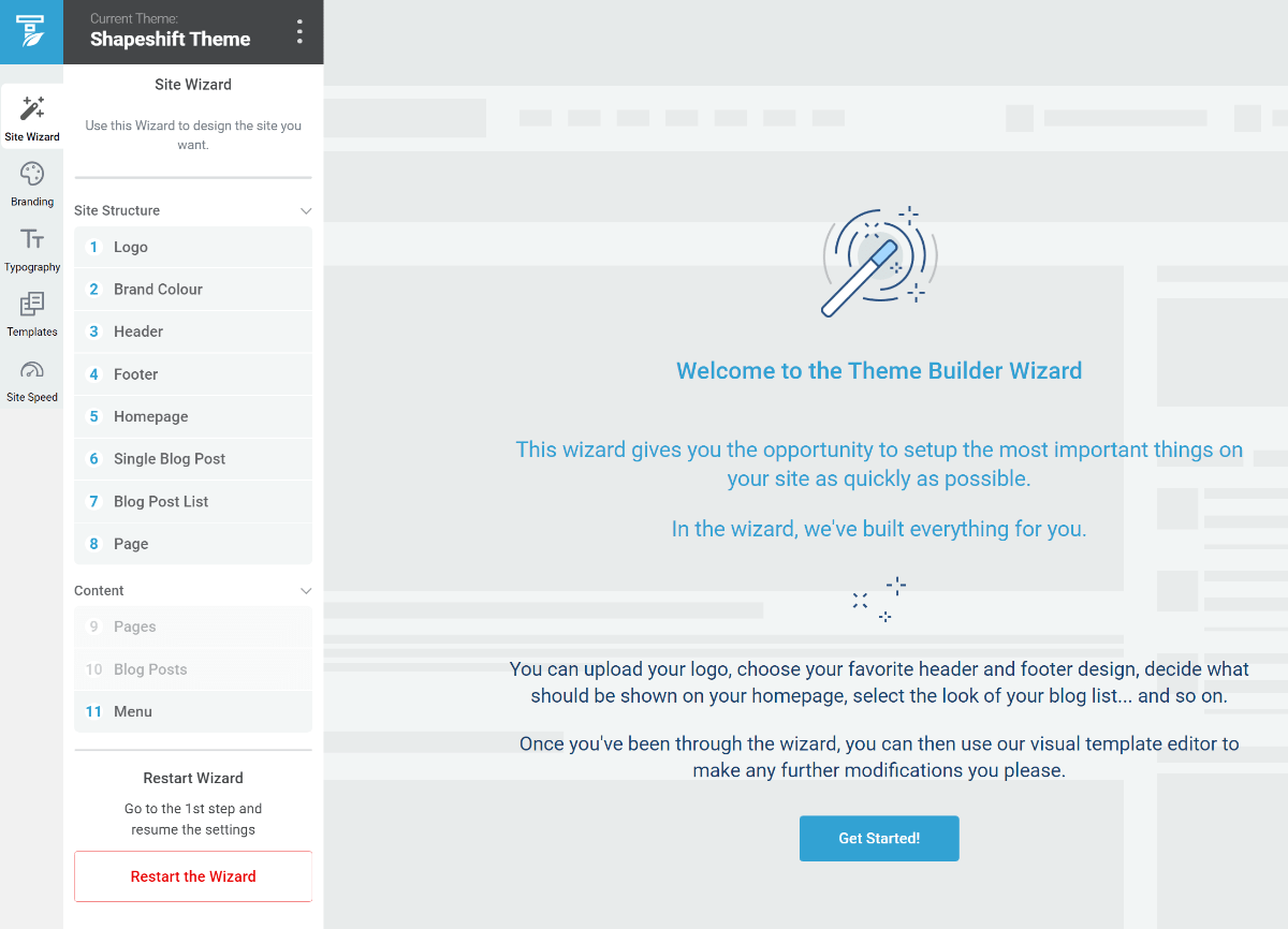 Thrive Theme Builder review of setup wizard