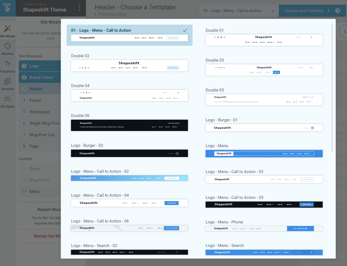 Choose templates